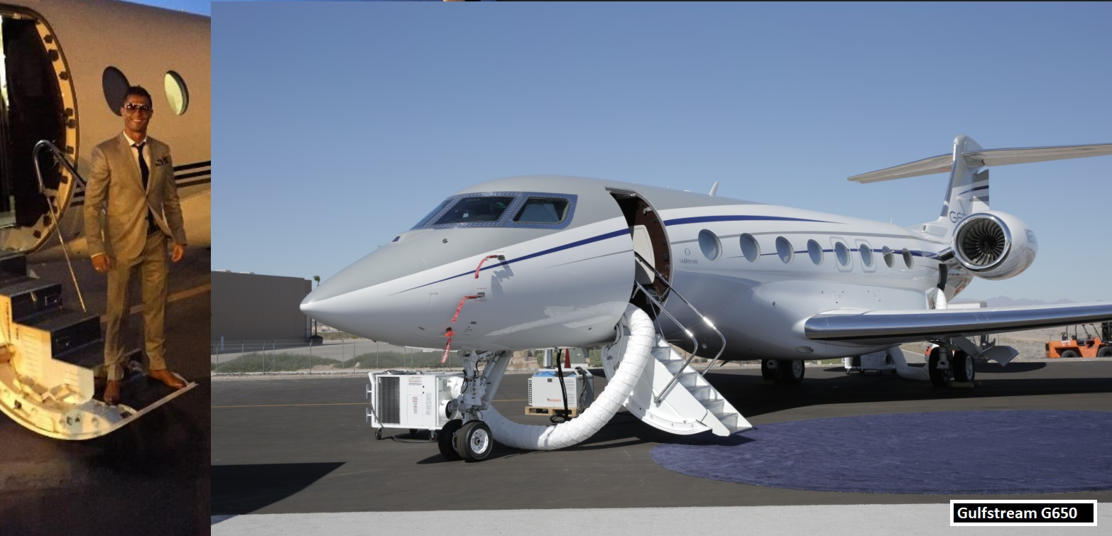 Ronaldo owns private G650 cost $65 million