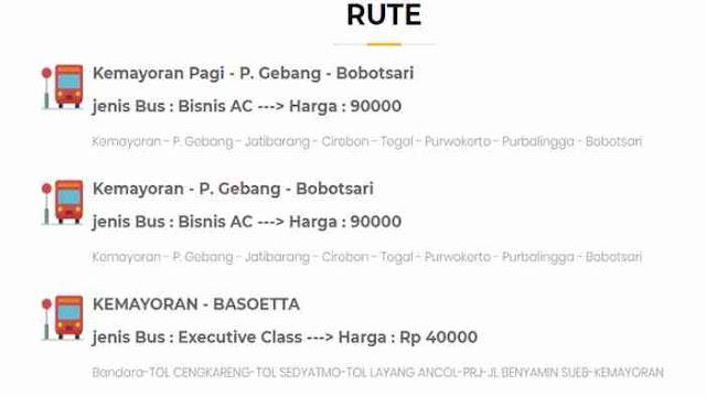 Tiket Damri Kemayoran
