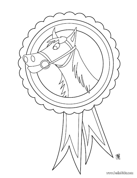 Horse Medal Horse Medal Coloring Page