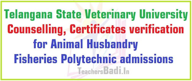TSVU Counselling,Animal Husbandry,Fisheries Polytechnic admissions