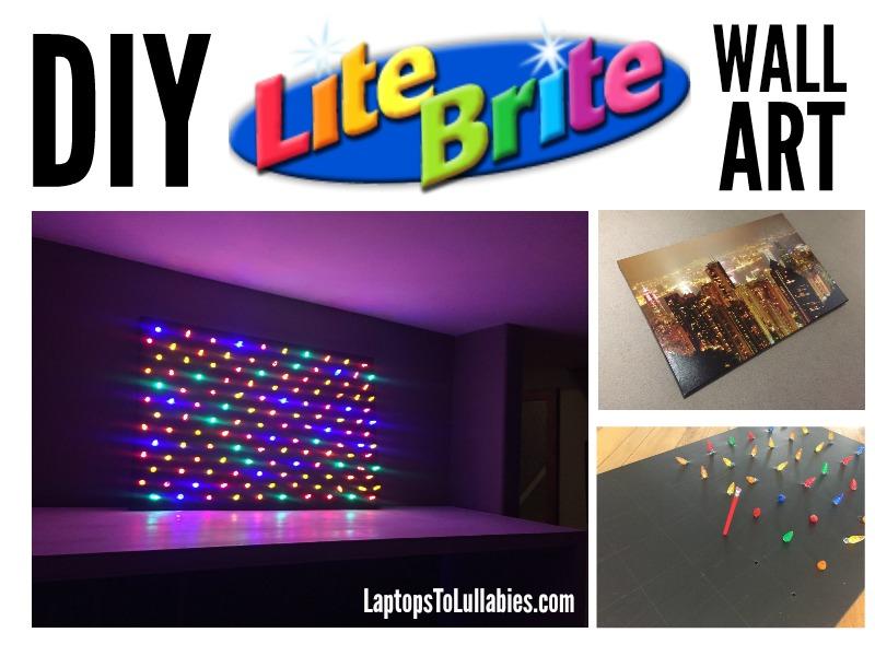 Laptops to Lullabies: Supersized Lite-Brite wall art