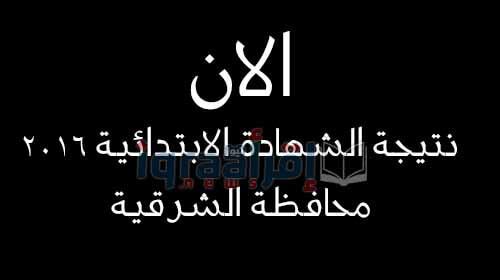 نتيجة الشهادة الابتدائية 2016 محافظة الشرقية الترم الثاني نهاية العام برقم الجلوس