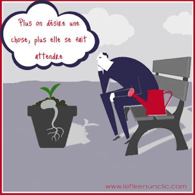 """""""Plus on désire une chose, plus elle se fait attendre"""", proverbe, FLE, le FLE en un 'clic'"""