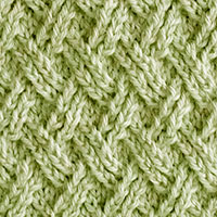 Double Lattice Twist Knit Stitch. Beautiful pattern with interesting details but you must pay close attention. Skill level: Advanced beginner/intermediate.
