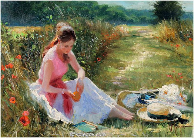 Feminine Grace Celebrated in Beautiful Female Painting Portraits by Vladimir Volegov