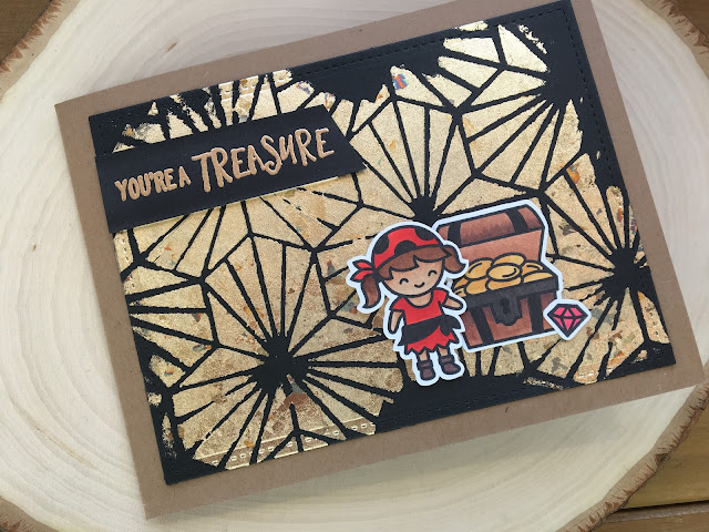 Lawn Fawn Ahoy Matey by Jess Crafts with Gilding Flakes Background