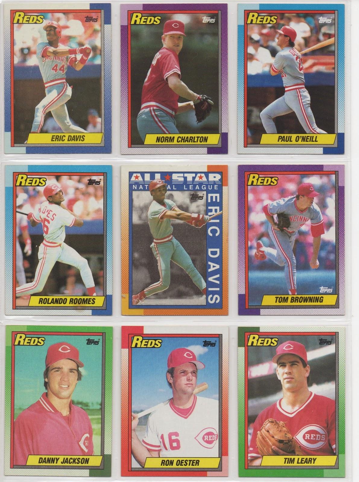Cincinnati Reds Baseball Card Collector 1990 Topps