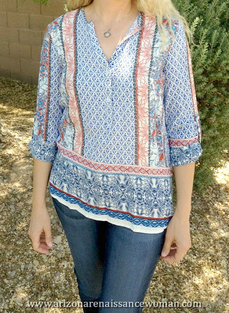 Fun2Fun Cromwell Henley Top - May/June Stitch Fix Review
