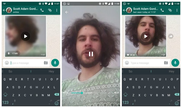 WhatsApp streaming screenshot
