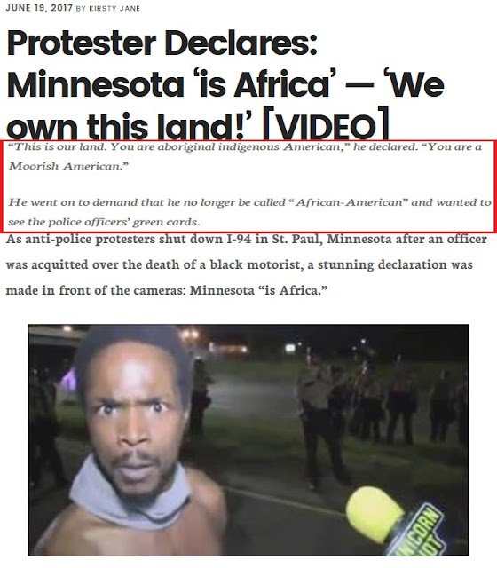 moorish american minnesota protester africa is america