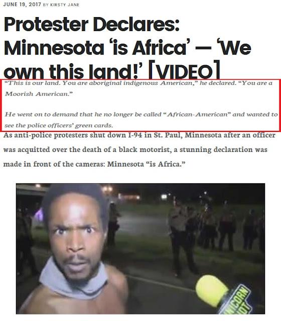 moorish american minnesota protester africa is america