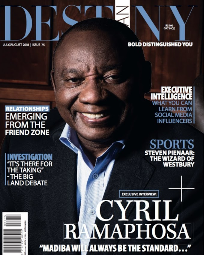 President Cyril Ramaphose covers Destiny Man Magazine as he Opens up on Relationship with Nelson Mandela