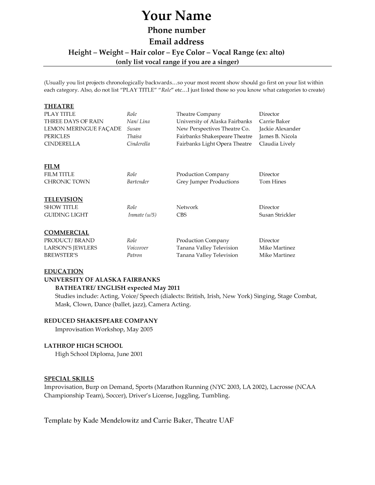 professional and creative resume templates for microsoft word - Free Creative Resume Templates Word