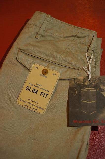 Workers Officer Trousers,Slim,Type1,Beige