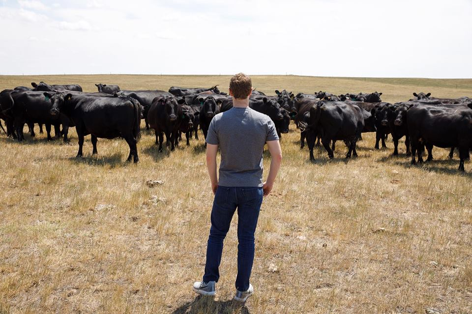 Mark Zuckerberg had lunch  with the Norman family on their 2,500 acre cattle ranch in South Dakota