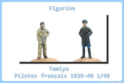 Figurine de pilote français 1940