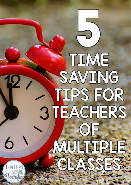 Tips and ideas for saving time in a busy multi-grade classroom! Check this blog post !