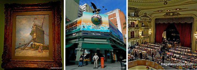 Atrações do bairro da Recoleta, em Buenos Aires