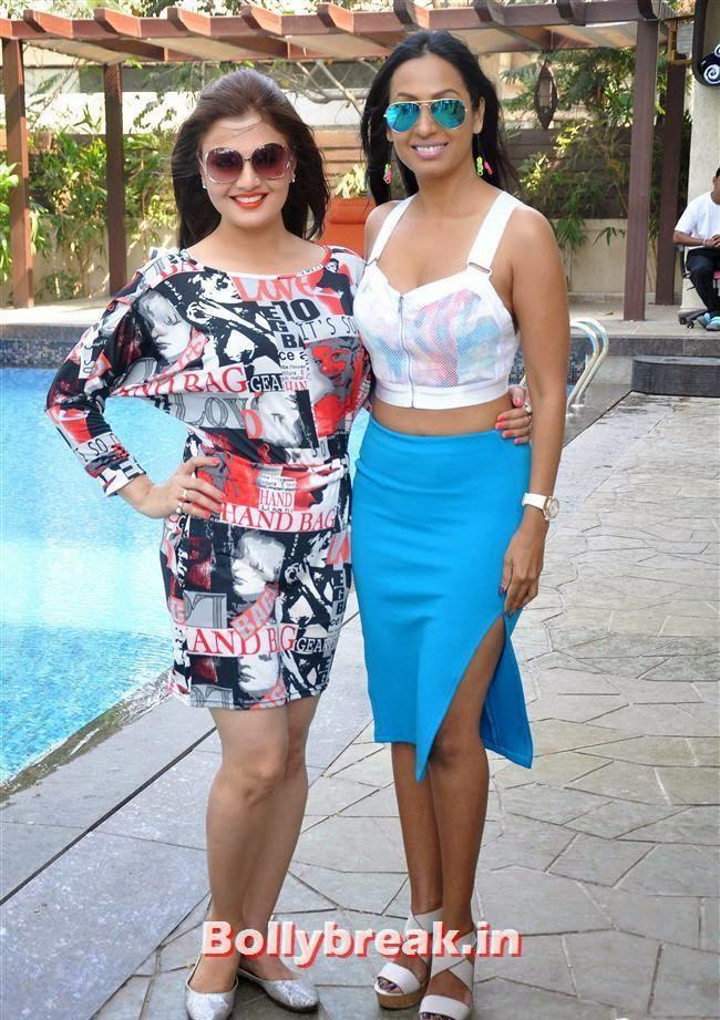 Deepshikha and Kashmera Shah, Bollywood Page 3 Celebs at Sheetal Nahar Brunch Party