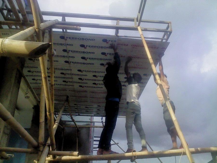 Pemasangan Panel Composite