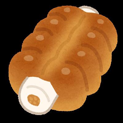 ちくわパンのイラスト