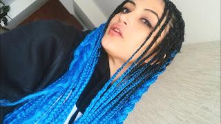 trenza africana azul fuerte