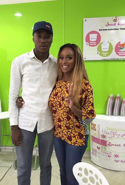 DJ Cuppy goes on fun date with fan (photos)