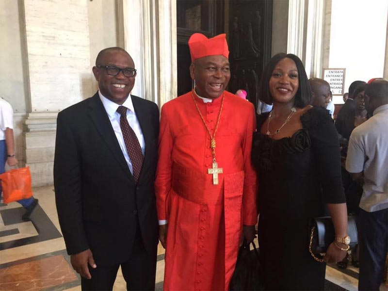Peter Obi and wife attended Saint Teresa of Calcutta's canonization in Rome