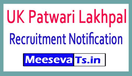 UK Patwari Lakhpal Recruitment