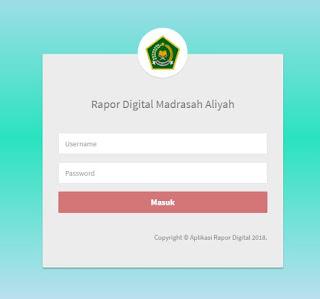 Kementerian Agama sekarang telah merilis sebuah aplikasi rapor digital untuk madrasah di selur http://sikurma.kemenag.go.id/ard/ Website Aplikasi Rapor Digital Madrasah
