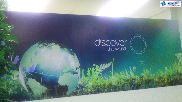 Vinyl Sticker on Sintra Board - Discover The World, Makati, Philippines