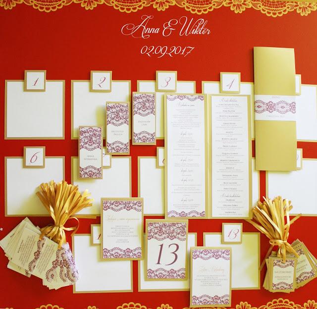 bordowo zlote zaproszenia i dodatki slubne artirea eleganckie klasyczne cerwone oryginalne