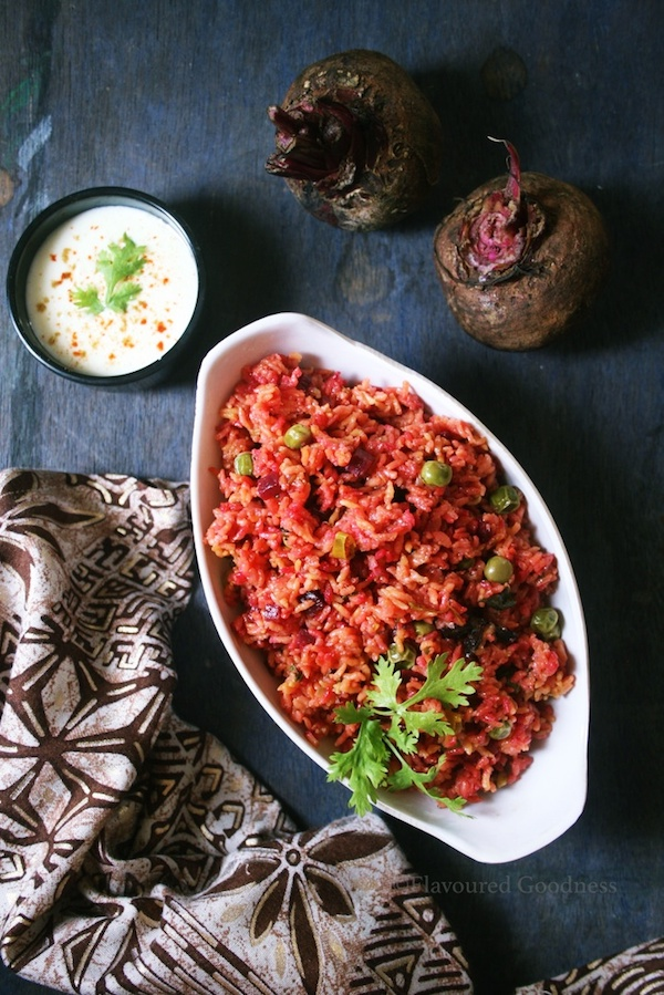 how to make Beetroot Pulao | Beetroot Rice