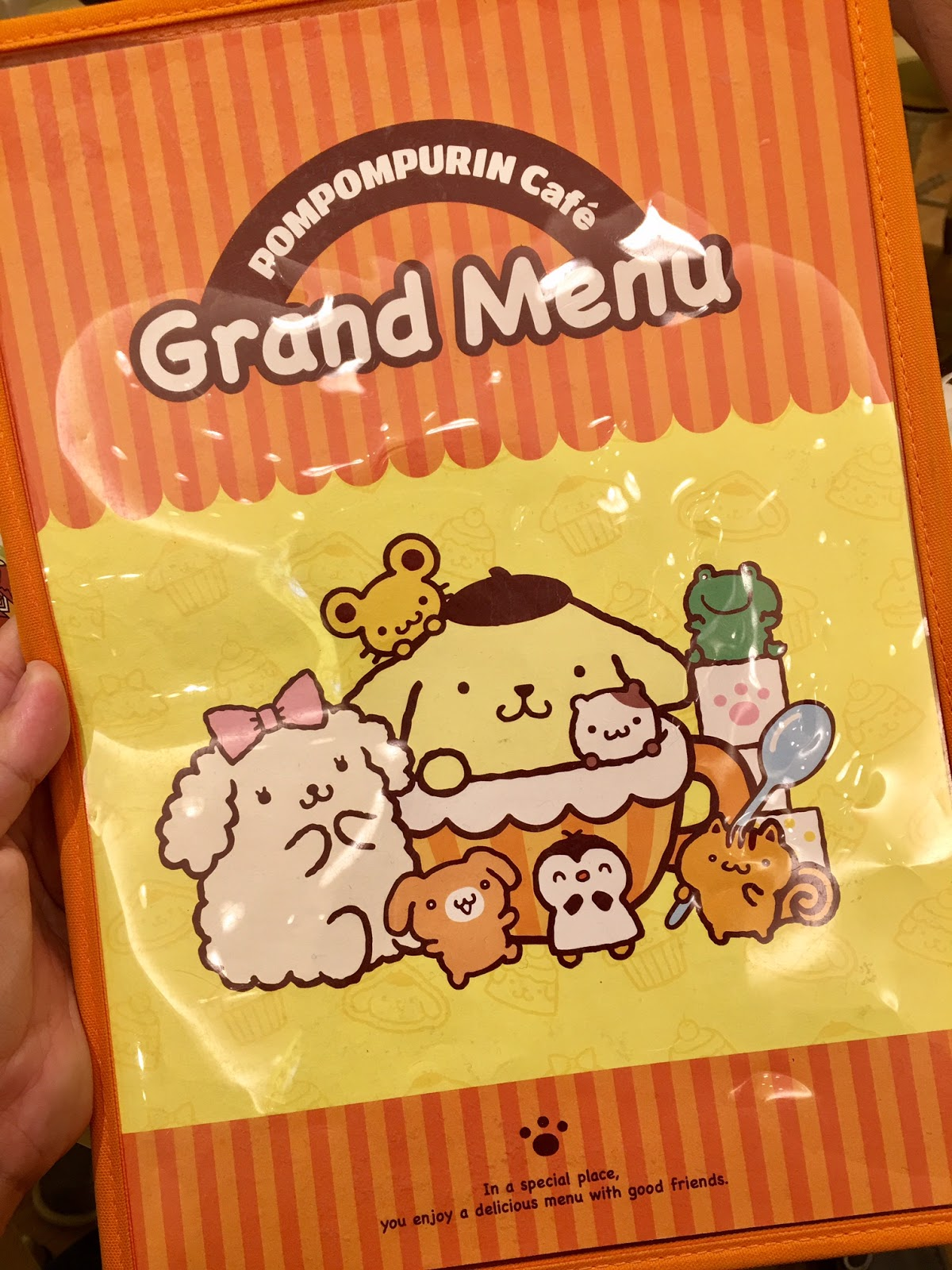 Pompompurin Cafe Menu