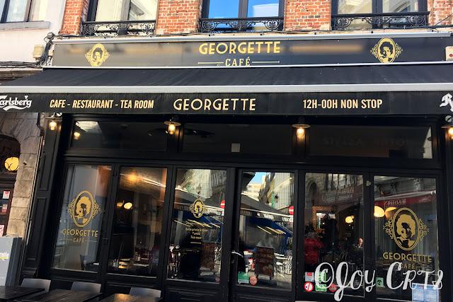 Devanture du Georgette Café, Bruxelles