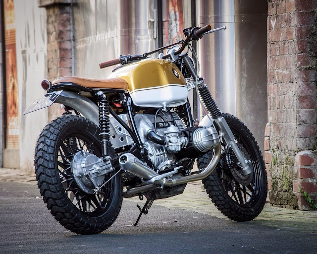 racing caf bmw r80 scrambler by down out caf racers. Black Bedroom Furniture Sets. Home Design Ideas