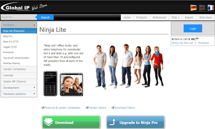 Ninja Lite VoIP Softphone