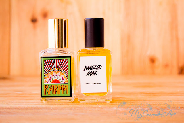 Los perfumes de Lush: Karma y Amelie Mae.