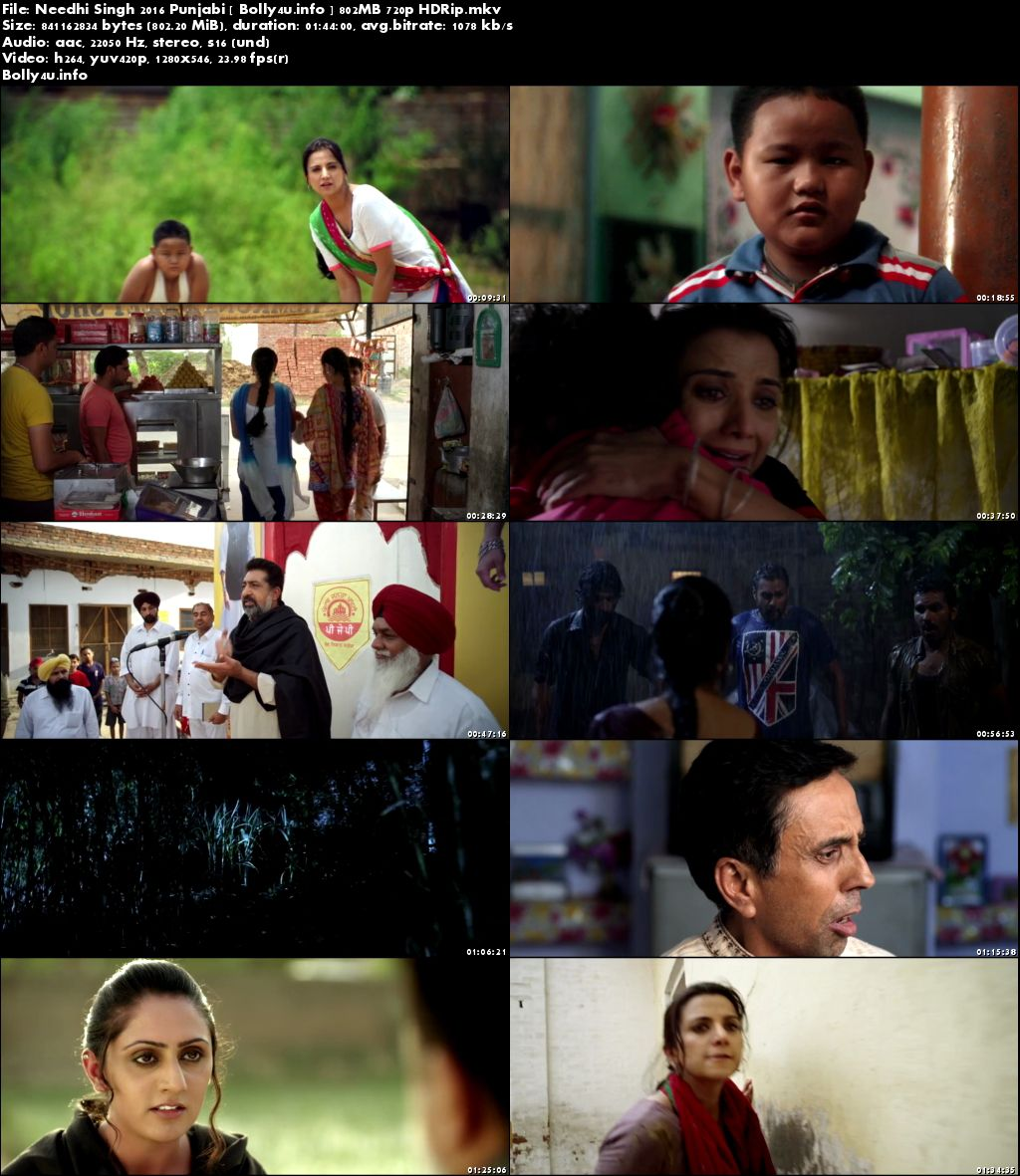 Screen Shoots of Watch Online Needhi Singh 2016 HDRip 300MB Punjabi Movie 480p Free Download Bolly4u.info