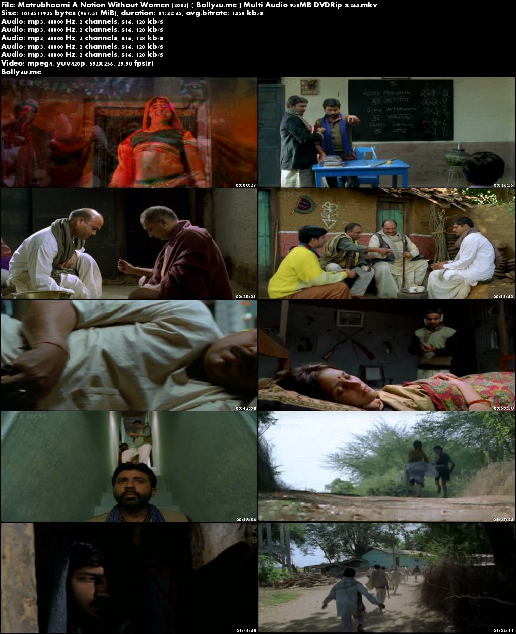 Matrubhoomi A Nation Without Women 2003 DVDRip 950MB Multi Audio Download