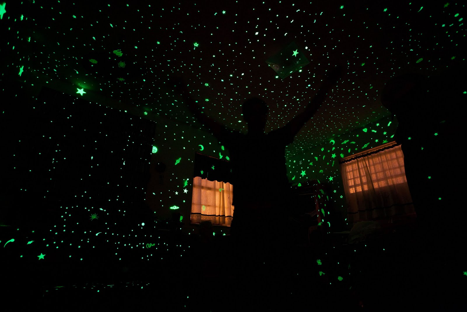Sons Bedroom Love His Green Glow Goes Well With The: The Masochistic Beaver On Adderall: Glow In The Dark Stars