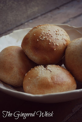 DIY Whole Wheat Hamburger Buns - quick and easy and delicious!