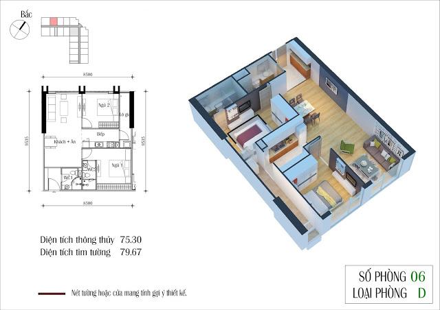 Thiết kế căn 06 tòa CT2 Eco Green City