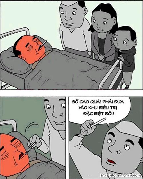 tranh vui bệnh viện đặc biệt