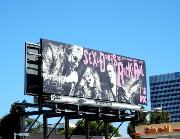 Sex & Drugs & Rock & Roll series premiere billboard