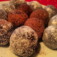 low calorie chocolate truffles. Only 36 calories per truffle! Slimming World friendly, weight watchers friendly chocolate.