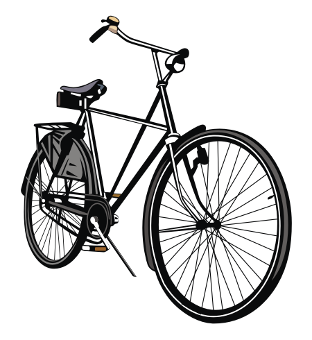 Convert Bitmap To Vector Service: Free Download Vector: Bike Sepeda Onta