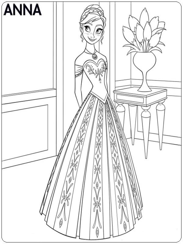ausmalbilder ana eiskönigin zum ausdrucken  ausmalbilder