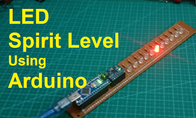 Arduino spirit Level using gyroscope with LED