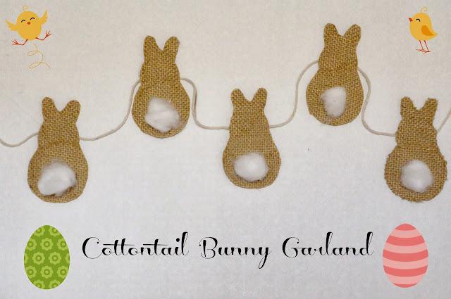 burlap, banner, easter bunny